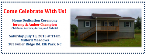 Champion Home Dedication