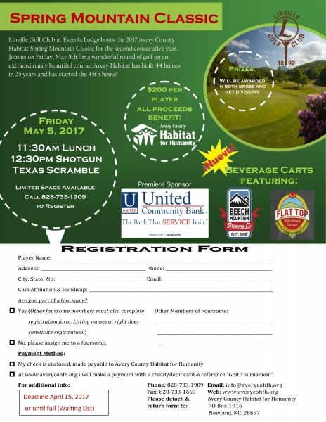 Golf Registration 2017
